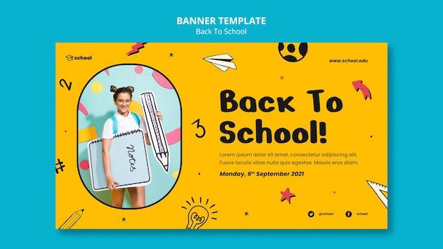 Zurück zum horizontalen banner der schule