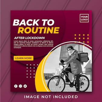 Zurück zur routine-banner-vorlage