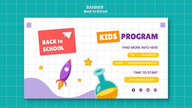 Zurück zur schule-banner-vorlage