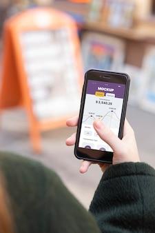 Zusammensetzung des mock-ups für mobile zahlungsanwendungen