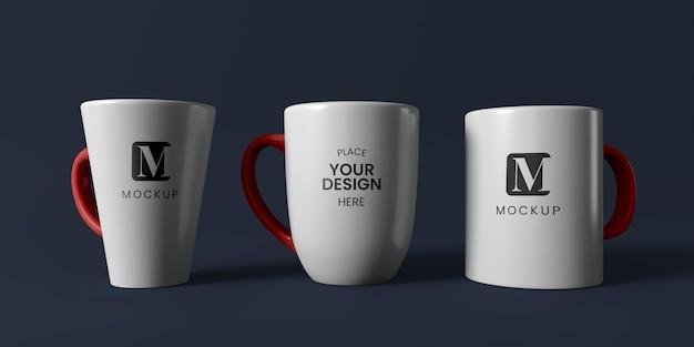 Zusammensetzung von minimalen kaffeetassen