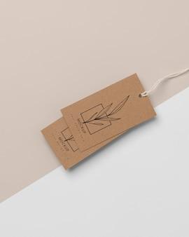 Zusammensetzung von mock-up-kartonanhängern