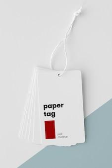 Zusammensetzung von mock-up-papieranhängern