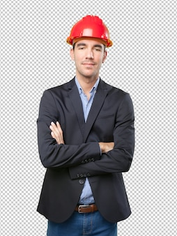 Zuversichtlich junger architekt
