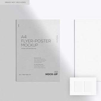Zwei a4 flyer-poster mockup