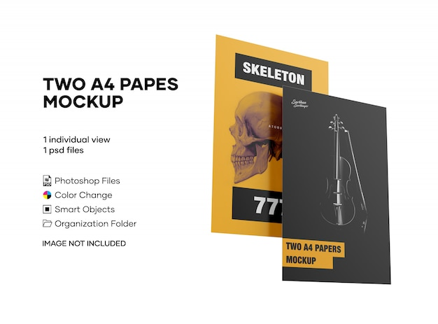 Zwei a4 papes mockup