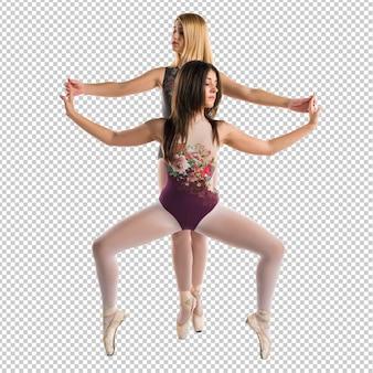 Zwei mädchen tanzen ballett