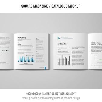 Zwei offene quadratische zeitschriften- oder katalogmodelle