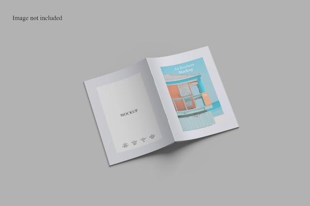 Zwei seiten broschüren cover mockup