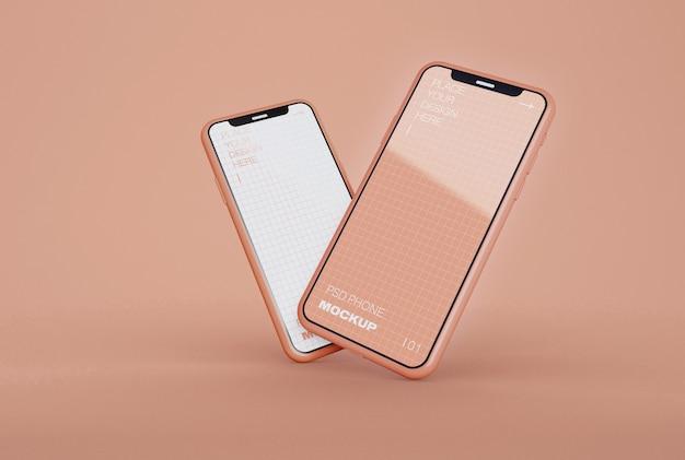 Zwei smartphones mockups