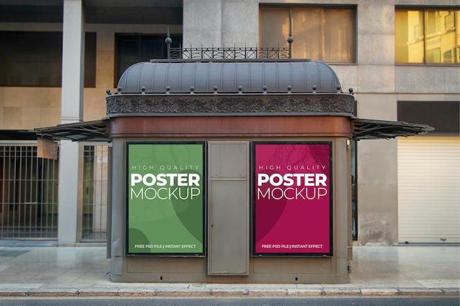 Zwei städtische plakate modell