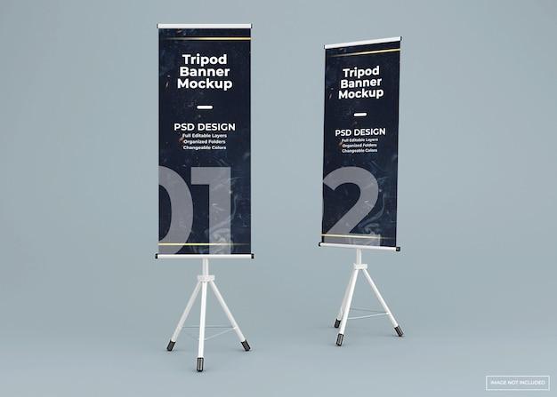 Zwei stativ banner stehen modell