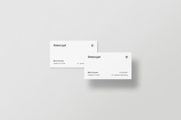 Zwei visitenkarten modell