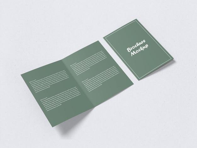 Zweifach gefaltetes a5-broschürenmodell