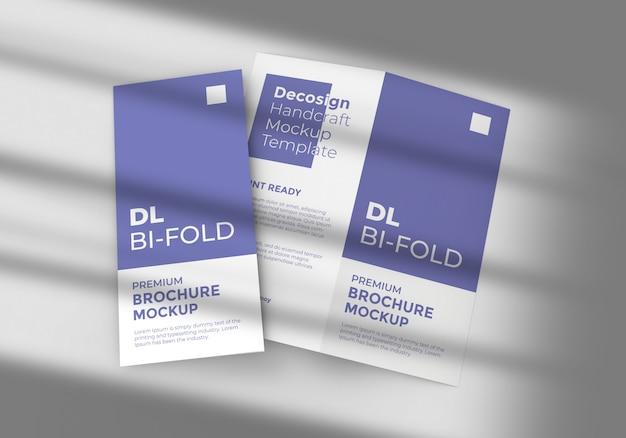 Zweifach gefaltetes broschürenmodell in dl-größe