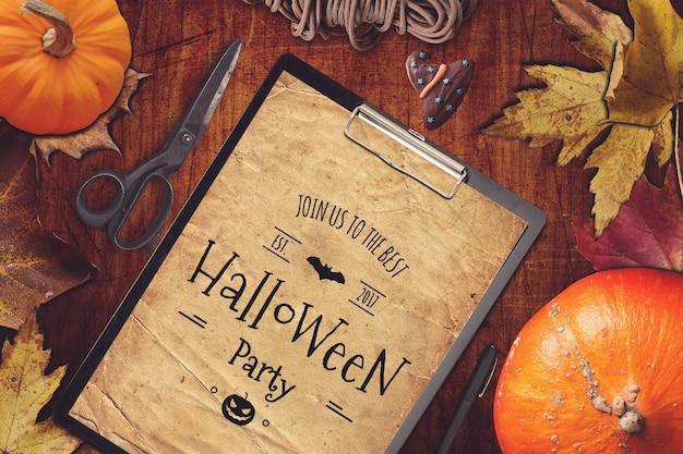 Zwischenablage mockup mit halloween-design