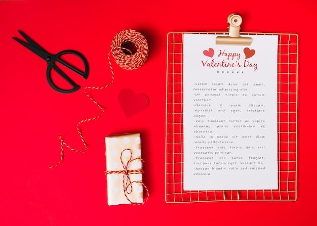 Zwischenablage-modell für valentinstag