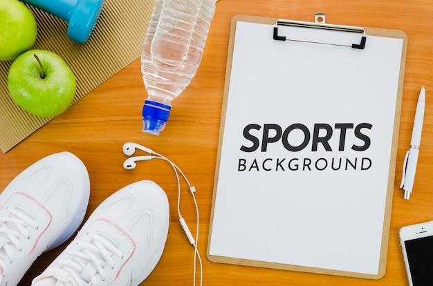 Zwischenablage und ausrüstung für den sport