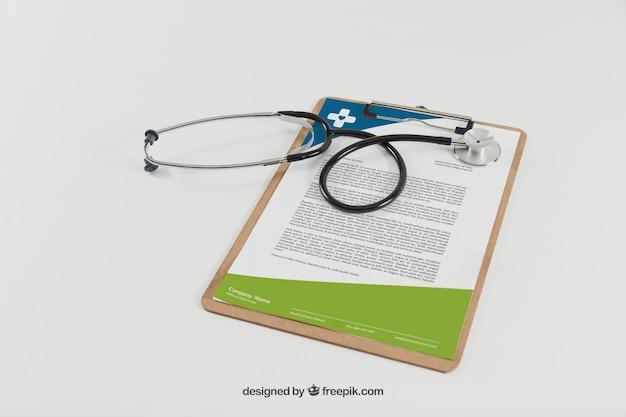 Zwischenablage und stethoskop