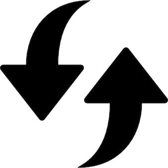 Aggiornamento. due frecce punto di su e giù