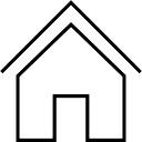 Casa simbolo delineato