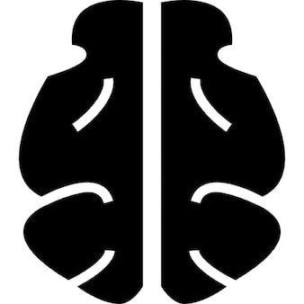 Cervello forma nera, ios 7 simbolo