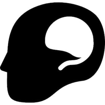 Cervello in testa maschile calvo
