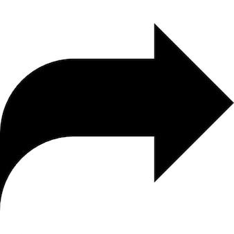 Condividere destra simbolo a freccia