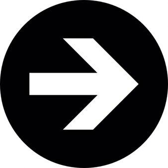 Freccia bianca a destra con sfondo nero