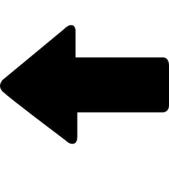 Freccia grassetto sinistro, iOS 7 simbolo interfaccia