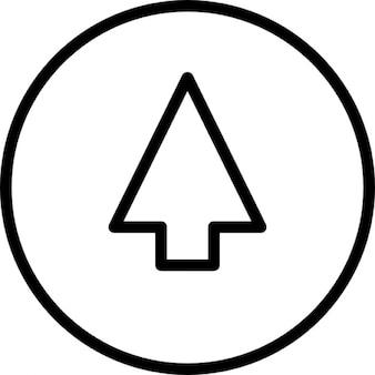 Freccia su schema su sfondo cerchio
