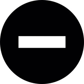 Nessun segno di entrata in sfondo nero