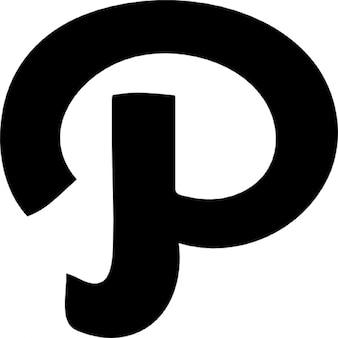 Pinterest lettera variante logo