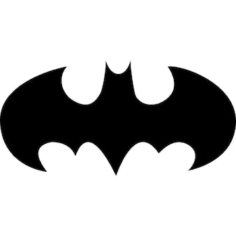Pipistrello con le ali aperte logo variante