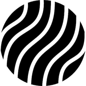 Aarde met dunne golven patroon