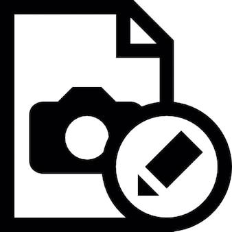 Afbeelding document bewerken knop