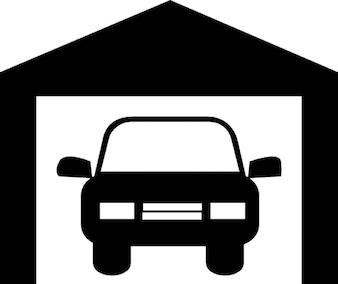 Auto in een garage