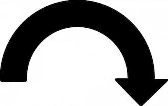 Curve pijlpunt naar beneden