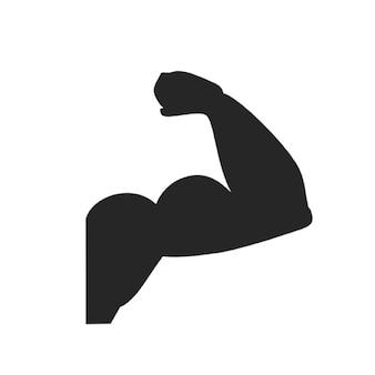 De hand biceps