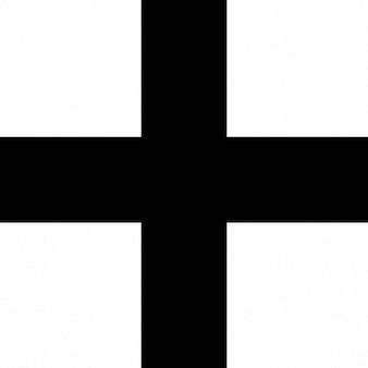 Eenvoudig zwart kruis vector