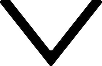 Eenvoudige driehoek punt naar beneden