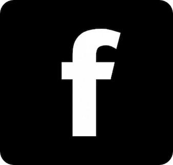 Facebook logo met afgeronde hoeken