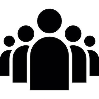 Groep mensen in een formatie