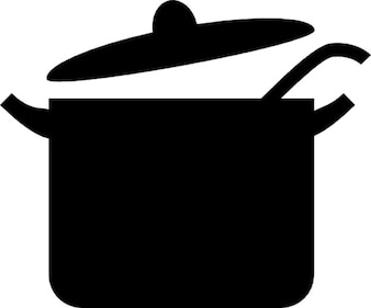 Grote open pot