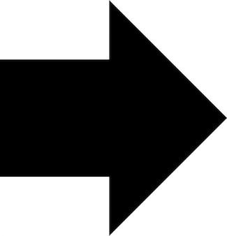 Grote pijl naar rechts