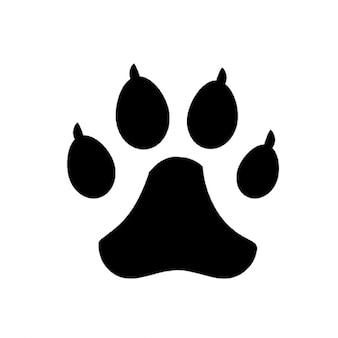 Hond voetafdrukken