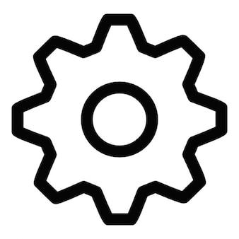 Instellingen gear symbool