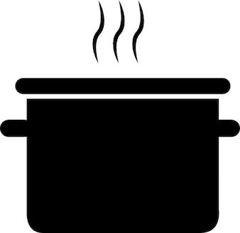 Koken in een pot