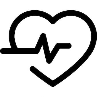 Levenslijn in een hart schets