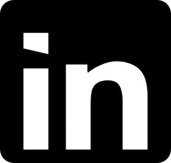 Linkedin logo met afgeronde hoeken